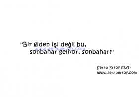SONBAHAR GELİYOR